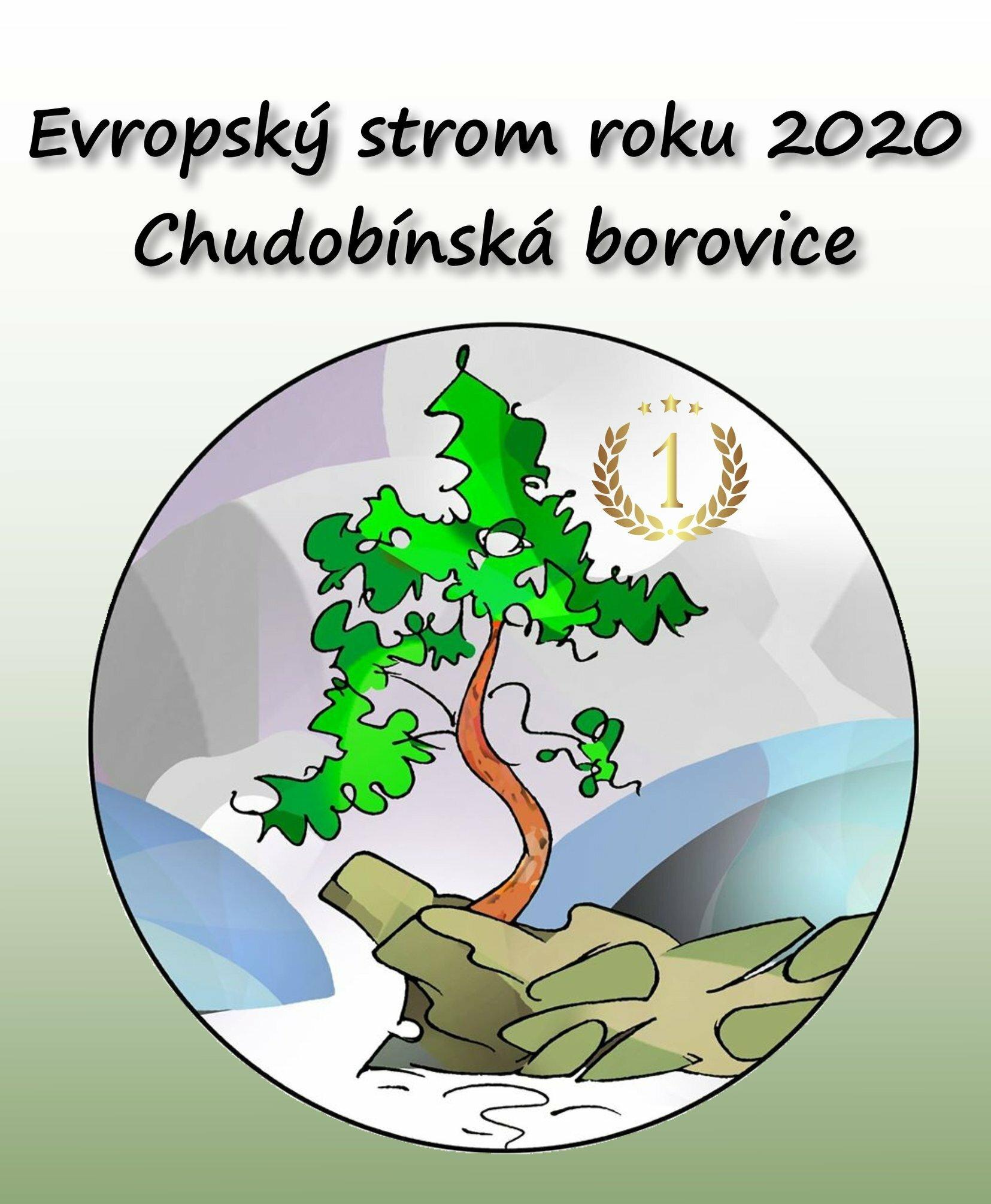 Znak Evropský strom roku Chudobínská borovice