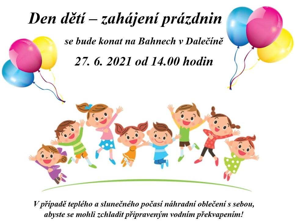 Dětský den v Dalečíně - plakát