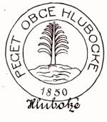 Pečeť obce Hluboké z roku 1850