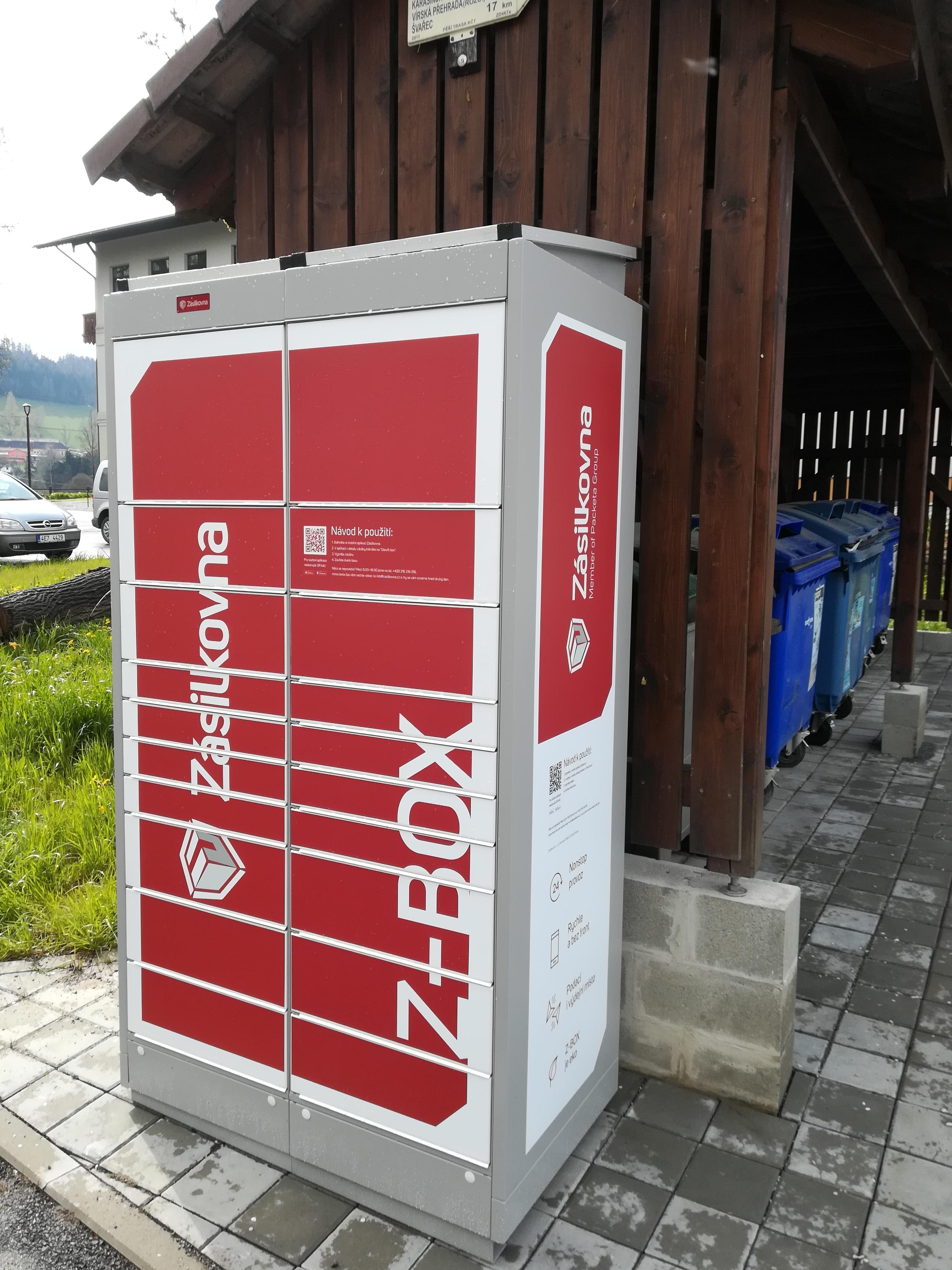 Zásilkovna (Z-BOX) v Dalečíně - umístění u sběrného dvora