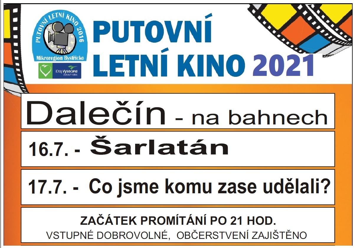Letní kino v Dalečíně - plakát