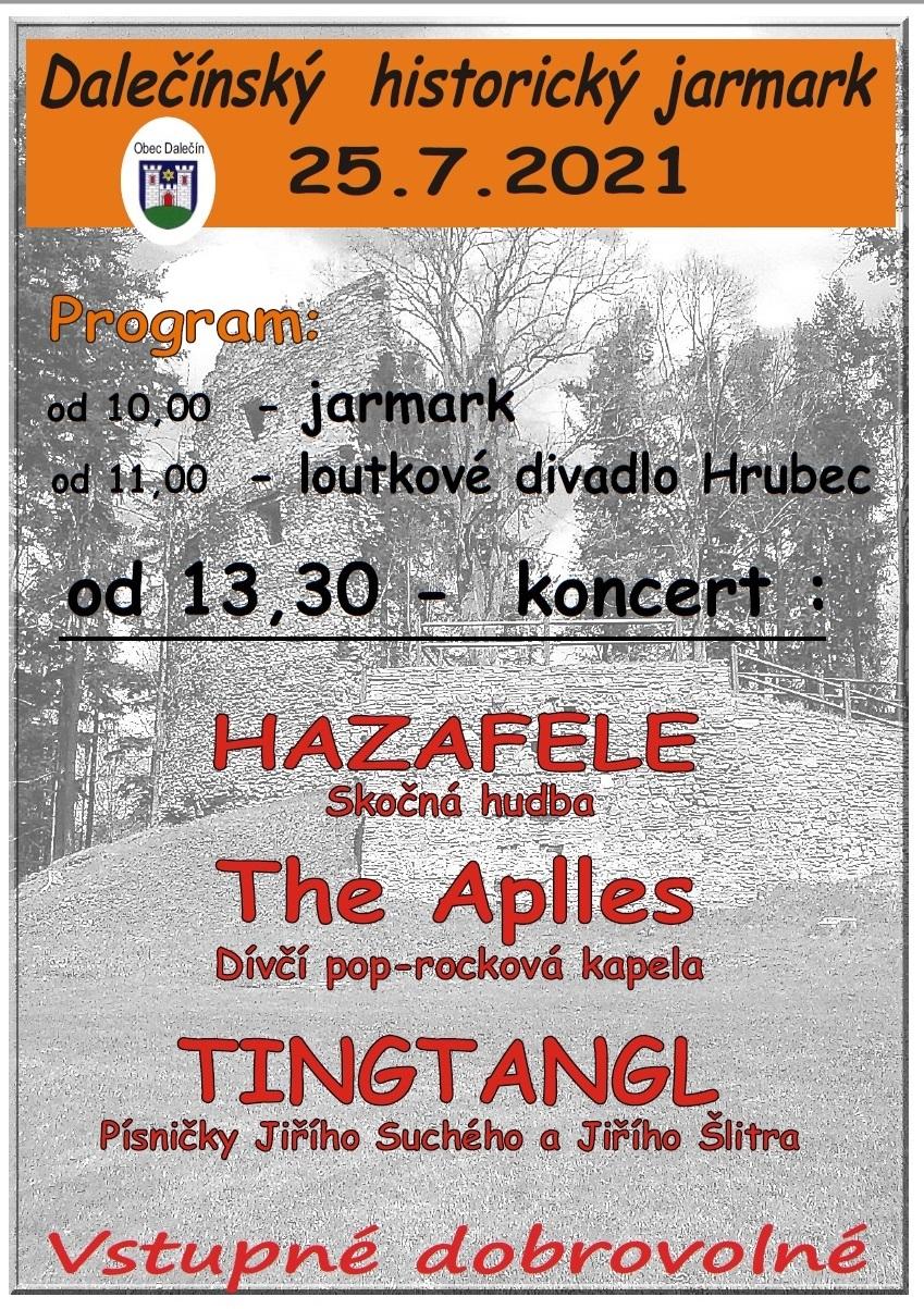 Pouť v Dalečíně - Plakát jarmark
