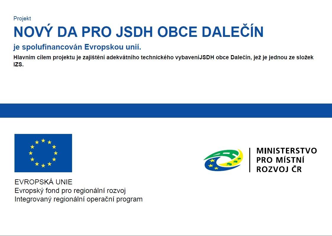 Nový DA pro JSDH Obce Dalečín - publicita