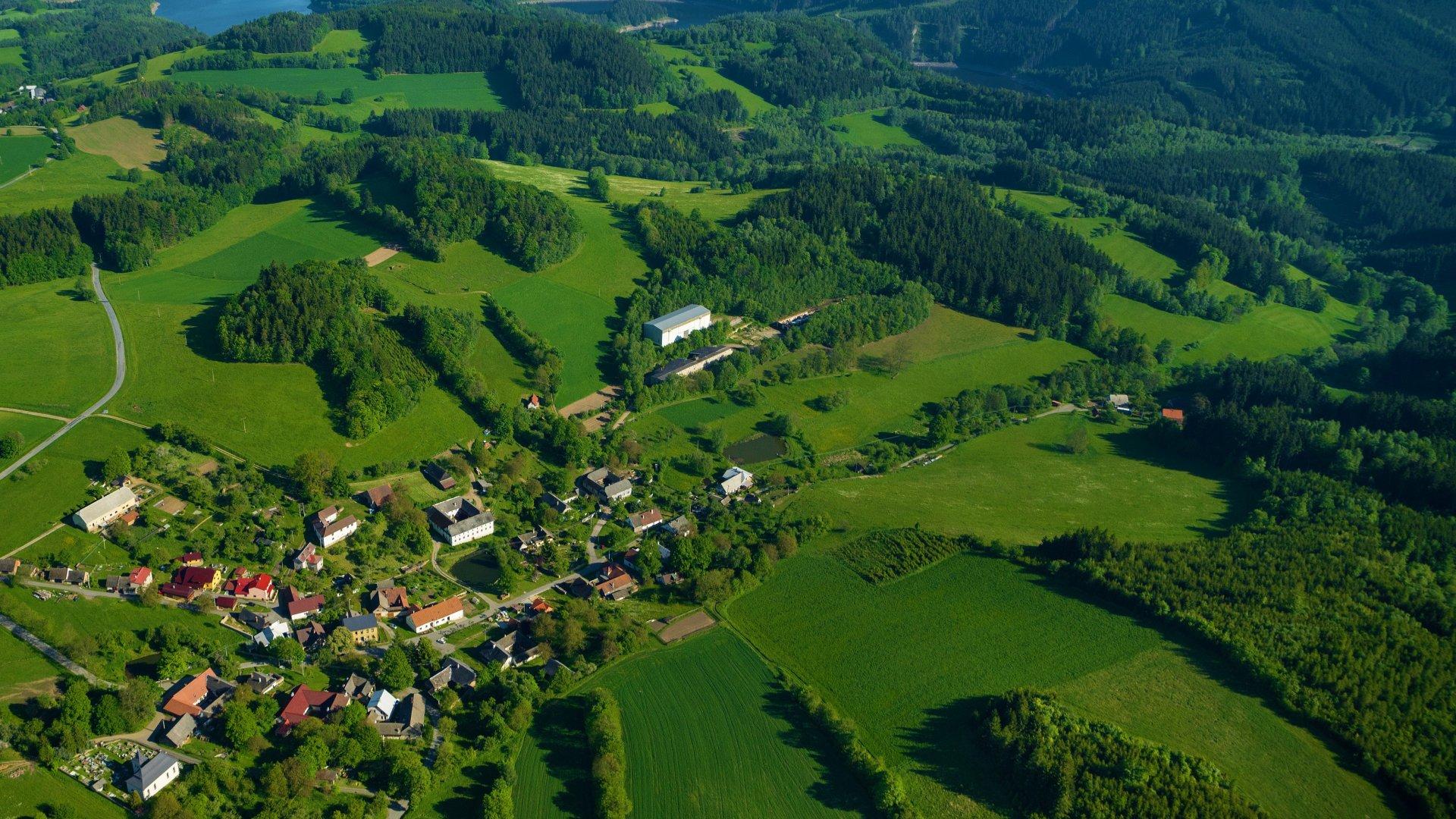 Místní část Veselí - letecký pohled